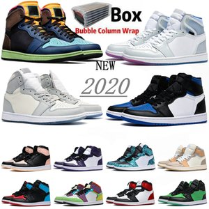 High 1 OG Basketball Chaussures tribunal noir Obsidian royal vert pin noir violet Toe UNC top 3 brevets hommes chaussures de sport styliste formatrices