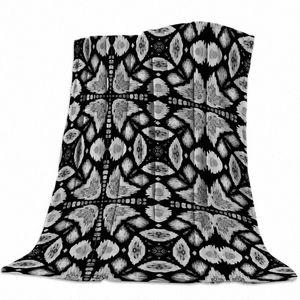 Nero e grigio Animali Design Pattern panno morbido della flanella Bed Coperta Copriletto Coverlet Bed Soft Cover Leggero caldo coperte elettriche kHFA #