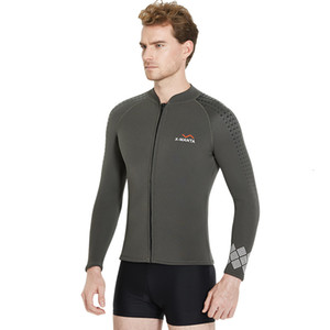 Men's 3mm Wetsuits Jacket Long Sleeve Neoprene Wetsuits Top   1.5mm Wetsuit Pants Snorkeling Scuba Surf Canoe Diving Suits Man