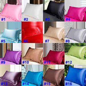 أزياء الحرير الجليد الحرير كيس المخدة البهجة مستطيل سادة القضية وسادة أريكة الرئيسية السيارات ديكور مشرق ويغطي وسادة 48 * 74CM HH9-3212