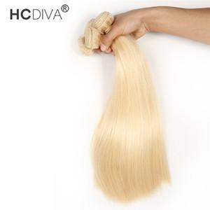 613 금발 인간의 머리카락 10 번들 / 로트 브라질 버진 스트레이트 바디 깊은 곱슬 물결 머리 eextensions 도매 가격 1kg