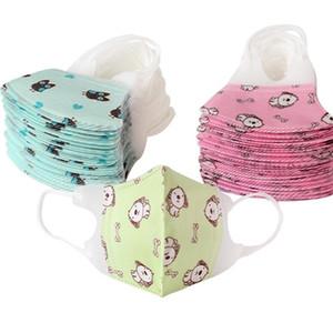 Masques Cartoon enfants Baby Face non-tissé imprimé bouche Masque masque anti-poussière Masques Designer de sécurité respirante SS51288