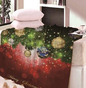 Christmas print blanket Santa Claus Warm Couch Bed Flannel Fleece Blanket Nap Blankets 150*80cm 150*120cm KKA8052