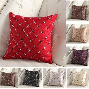 Art und Weise 1PCS Luxurious gestickte Plaids Kissenbezüge amerikanischer Vertraglich Stil Pillowcase Partei Home Beauty DIY Fall