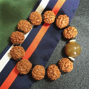 Bracciale Perle Nuovo Nepal 18 millimetri Braccialetto uomini Bodhi Vajra Bodhi Bracciale cinque petali di