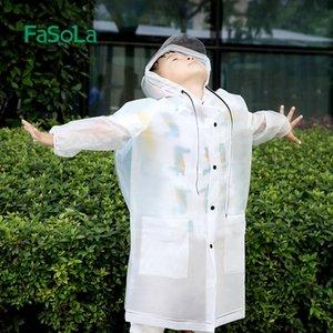 46E3Y h30jM FaSoLa Schutz erwachsenen Grundschüler wasserdichte Kleidung Baby Schulweg Wandern Cloak Schutz Kinder Pro Poncho