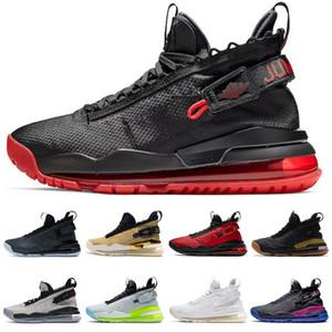 المدربين بروتو jumpman أحذية الرجال رياضة أحمر أسود الصمغ ولدت النيون التدرج النقي البلاتين جوني كيلروي الأزياء الرياضية أحذية رياضية حجم 40-46