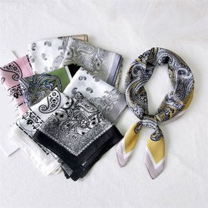 Paisley Shawl Wrap Silk Square Scarf Small Neck Scarves Handkerchief Cashew Print DIY Hair Tie Band Headband Fashion Bandana