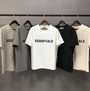 2020 Ins Hot Spring Summer Hip Hop Fear Of God Front Essentials 3D Silicon Tee Skateboard Tshirt Fog Men Women Short Sleeve Casual T Shirt