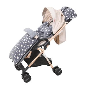 Stroller Sleeping Bag Winter Pushchairs Footmuff Windproof Warm Baby Stroller Foot Cover With Pillow Gloves