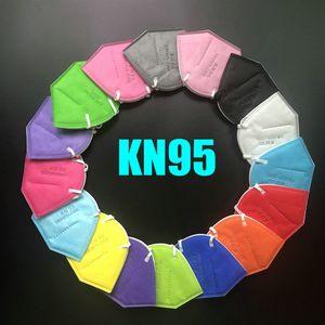 KN95 маска 12 цвет завод 95% Фильтр FFP2 FFP3 Designer Face Mask Активированный роскошь Carbon многоразовый дышащий 6 слой защитной верхней продажи