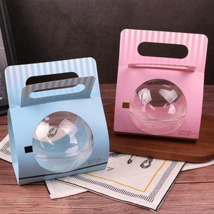 50pcs Net rot Kreativbox kleine Verpackung Paket Kuchen Gebäck box diy Bevorzugungen Boxen Partei protable Weihnachtsgeschenk backen
