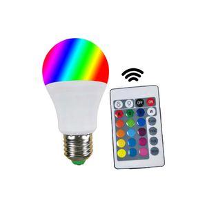 RGB ملونة تغير لون ضوء اللمبة الذكية التحكم عن بعد برغي لمبات متزامن تغير لون E27 لمبات مع تبديل 3W 6W 9W 12W 15W