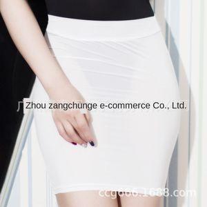 Sexy OL One-Step One-Step bodycon Tight perspectiva vaina media de longitud ajustado transparentes elástico de la falda cos hembra cuello blanco trabajador de oficina