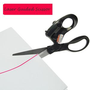 Лазерное наведение Ножницы Для дома Ремесло DIY Оберточных подарков DIY ткань Шитье Cut Straight Быстрых резок нержавеющей стали ножницы с батареей