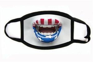 Baskı Maske Evrensel İçin Erkekler Kadınlar Amerikan Bayrağı toz geçirmez eksikliği Maskeler Amerikan Seçim Malzemeleri Parti Maskeler Maske 2020 # 967