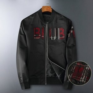 2020 пункт куртки мужских света роскошных европейских товаров 2020 осени письма вышитого бейсбол воротник куртка для мужчин среднего возраста