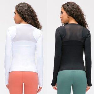Merillat Top bra Merillat nova malha elástica superior magro das mulheres bra yoga T-shirt de mangas compridas respirável