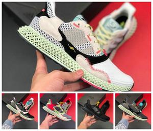 ayakkabılar siyah beyaz spor ayakkabı boyutu 36-45 çalışan 2019 zx4000 Futurecraft 4D ZX 4000 Futurecraft 4D alphaedge y3 erkekler