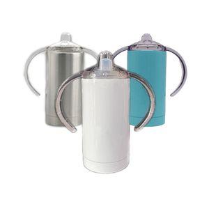Promozionale Food Grade Sicuro doppia parete isolante sottovuoto thermos 12 once Magro doppia maniglia Sippy bambini bottiglia di trasporto del DHL