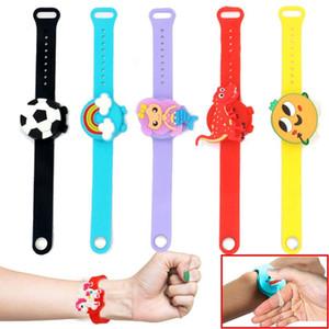 16style Hand Sanitizer Dispenser-Armband-Silikon-Squeeze Flüssigkeitsspender Armband Waschbar Rewearable Kinder Erwachsene Protable Sauber HHA1599