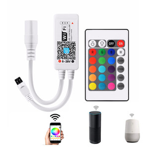 Smart WiFi Controller,RGB Color Changing Wireless Remote Control,from Anywhere Compatible with Alexa Google Voice Command Control