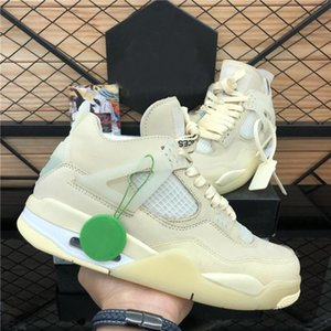 2020 New Top creme Sail Gato Preto Branco Cimento Homens Mulheres Jumpman 4 4S tênis de basquete Cactus Jack Mens Trainers Sport Shoes Size36-46