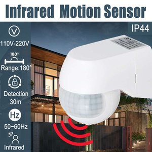 Infrared PIR Motion Sensor 180 Degree Adjustable Wireless Alarm Detector 110V-220V Time Delay Home Security Outdoor