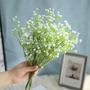 34.5cm 1 manojo Ramo de la boda, haz estrellado, flores artificiales, decoración del hogar, por carretera, la pared flor de la planta HATB #