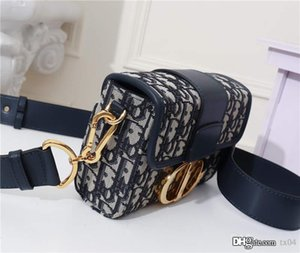Ombro de novas mulheres Crossbody Bag Montaigne Mini Box Francês Saddle Bag GOLDEN Vintage Antique sarja Imprimir Top Quality Leather Designer