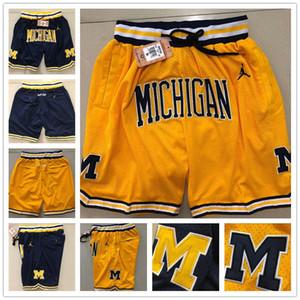 2019 Michigan SADECE DON Man Hip Hop Hareket Rüzgar Basketbol Şort Çizgili Ağ Astar Bölünmüş Ortak Wolverines Spor Pantolon