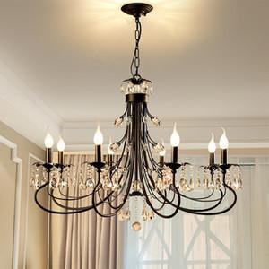 Black Crystal Kronleuchter für Wohnzimmer Leuchten Kronleuchter Beleuchtung für Dekoration moderne hängende Lampe für Wohnzimmer Licht Leuchte