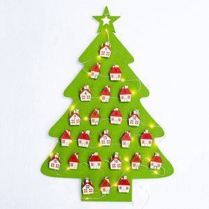 New Year Gifts Kids DIY Felt Christmas Tree Decorations Christmas Gifts For home Decoration Door Wall Hanging Ornaments Navidad