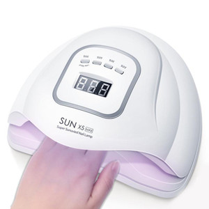120W Lampe LED UV Nail Gel Nail Dryer Cure manucure machine blanche SUN X5 MAX lampe Outils d'art