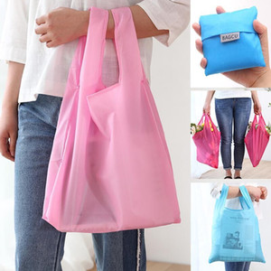 New Fashion Waterproof Shopping Bag Portable Folding Creative Reusable Foldable Shopping Bag Eco Tote Market Grocery Bag