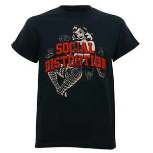 Аутентичные Social Distortion Белый свет иконки T-Shirt S-3XL
