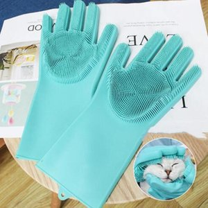 Pet Massage Gloves Dog Grooming Brush Puppy Hair Deshedding Comb Cat Cleaning Anti-scratch Glove Hair removal Brushes