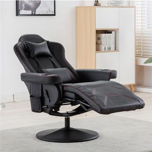 Yeni Rahat Patron Koltuğu Oyun Sandalye / Yatan Oyun Sandalye / Ayarlanabilir koltuk başlığı ve lumbart ABD Depo PP191981AAB