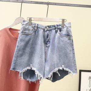 dimagranti lana di grasso AkAzT n3HXu 2020 shorts in denim coreano hot pants stile 200kg MM estate pantaloncini hot pants, più le donne della moda di dimensioni 8777