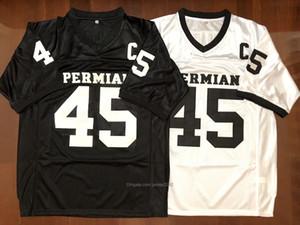 Mens Boobie Miles # 45 Permiano Filme Friday Night Lights Football Jerseys costurado Branco Preto S-3XL de alta qualidade grátis