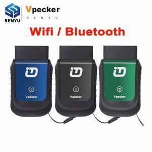 Suporte Scanner Vpecker Easydiag E1 V9.0 Wifi / Bluetooth Sistemas completa Car Ferramenta de diagnóstico OBDII Windows XP ~ 10 Obd2 Vpecker Jizu #