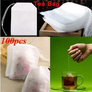 Boş Teabags Kokulu Teabag Dize Mühür Filtre Kağıdı Teabag Gevşek Çay Taşınabilir Çay Süzgeç Çanta DHE1343 için 5,5 x 7cm Heal boşaltın