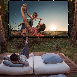 Plegable 16: 9 Pantalla de proyección 60 70 84 100 120 pulgadas en blanco al aire libre Pantalla de proyección TV del hogar del proyector