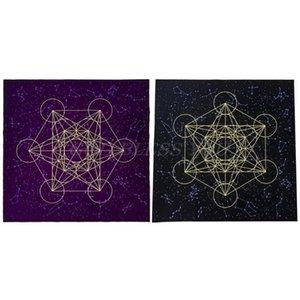 xhlove tarjeta de cristal mantel del altar Card Game Cub Tarot Tarot Metatrone envío Mantel Junta terciopelo gota cuadrícula yxlEkr