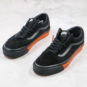 2020 Новый холст обувь Черный Оранжевый WTAPS Письмо Logo Печать Vault По WTAPS OID Skool Мужчины Женщины Скейт обувь