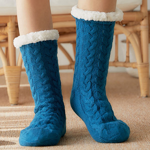 Feminino Chinelos Piso Sock Plush Quente Fur Quarto Chinelos de silicone antiderrapante Início Suave Mulheres