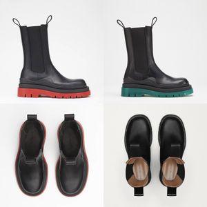 La venta caliente-Nuevo Color Matching de cabeza redonda de las mujeres más el algodón Veet Martin botas de mujer Martin informal salvaje antideslizante de las mujeres de Martin Bottega # 958