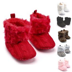 JOCESTYLE Bebê recém-nascido Meninas da neve do inverno botas infantil Sapatos bowknot Sólidos Prewalker Dropshipping