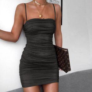 SVOKOR Складки Slim Fit платье Женщины Sling Tube Top Темперамент ночной клуб платье пакет Hip мини платья