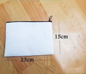 DIY Blank Sublimation Linen Cosmetic Bags Women Plain Zipper Makeup bag Phone Clutch Bag INK Print Heat Press Transfer For Gifts